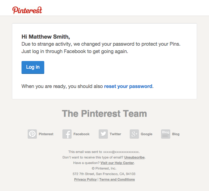 Your Pinterest account's in safe mode