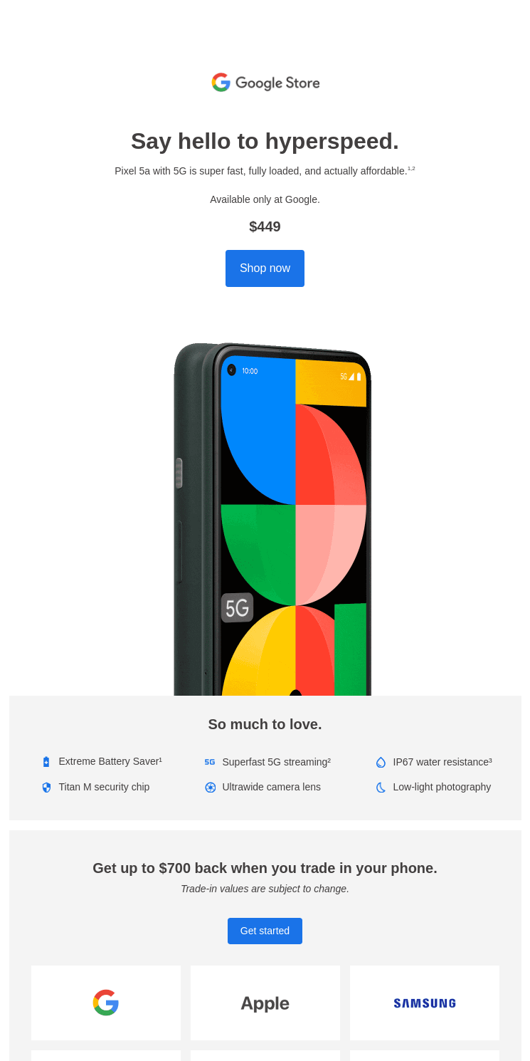 Pixel 5a with 5G has arrived