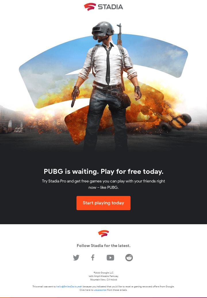 Play PUBG for free