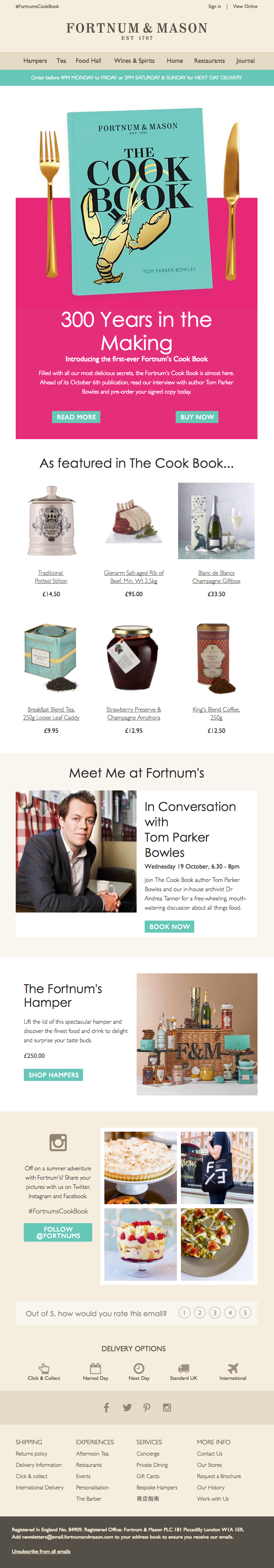 Pre-Order the Fortnum's Cook Book today