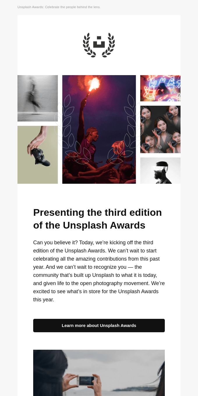 Presenting The Unsplash Awards