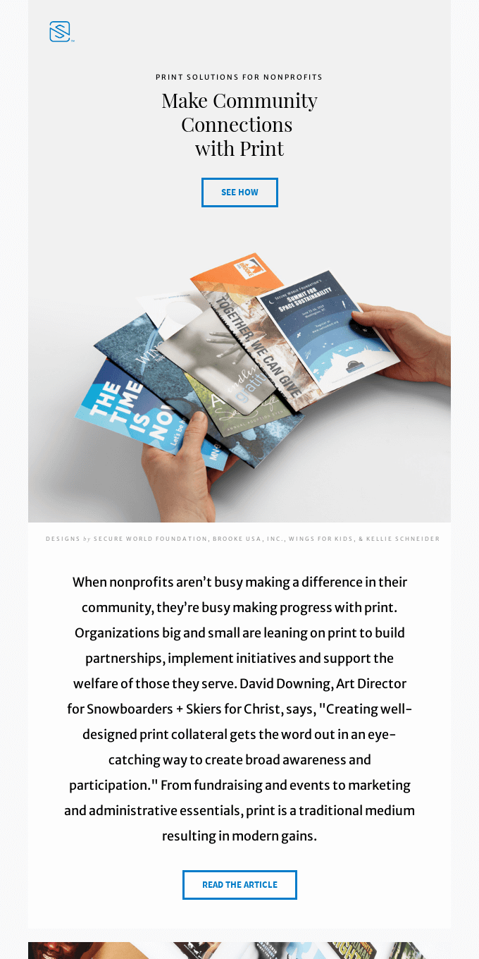 Print with a Purpose: How Nonprofits Expand Their Reach