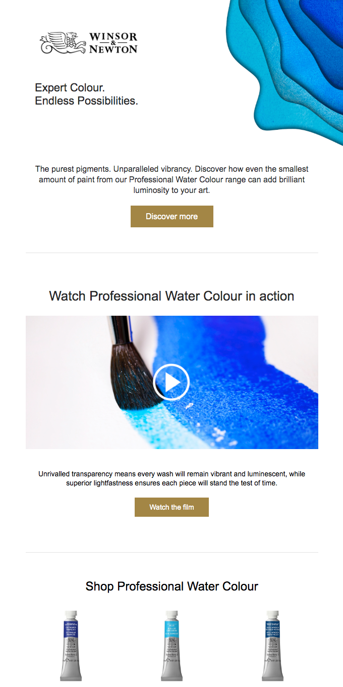Professional Water Color: Expert Color. Endless Possibilities