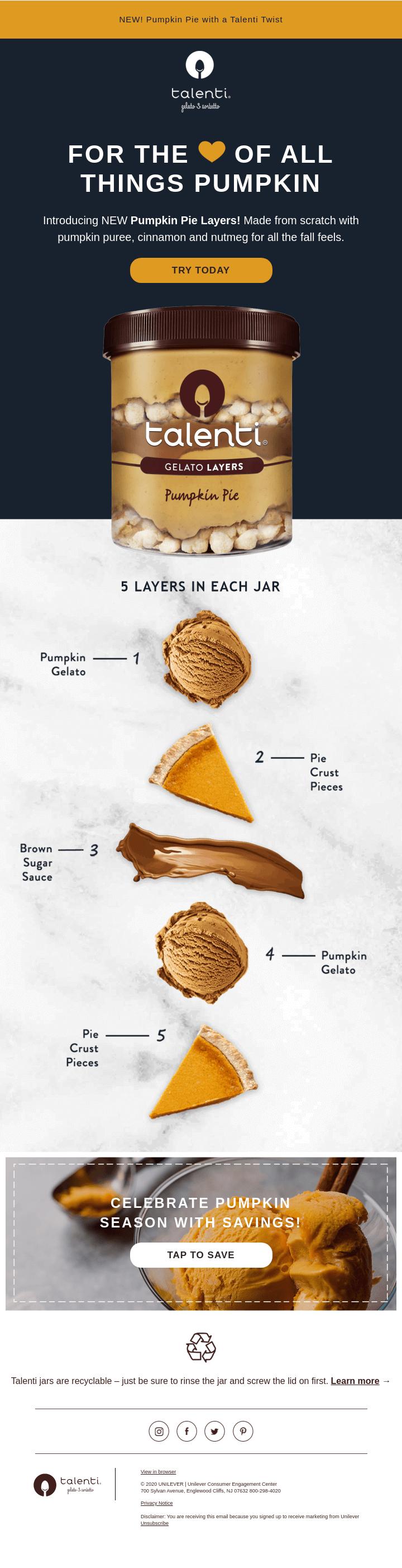 Pumpkin 👏 Pie 👏 Layers