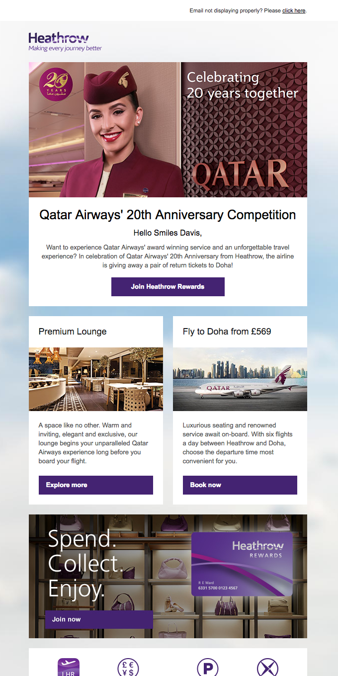 Qatar Airways 20th Anniversary Competition