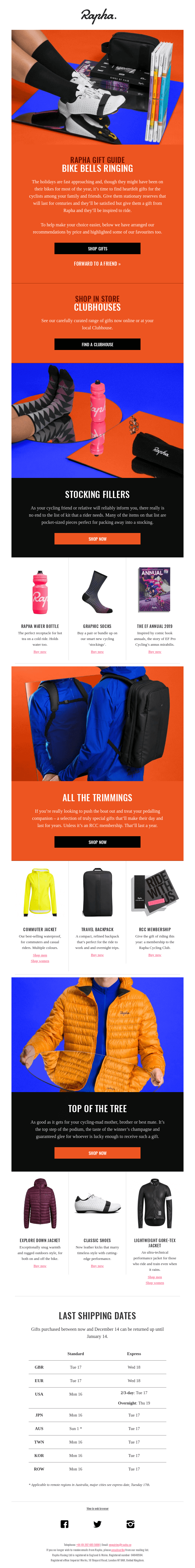 Rapha Gift Guide – presents for all who pedal