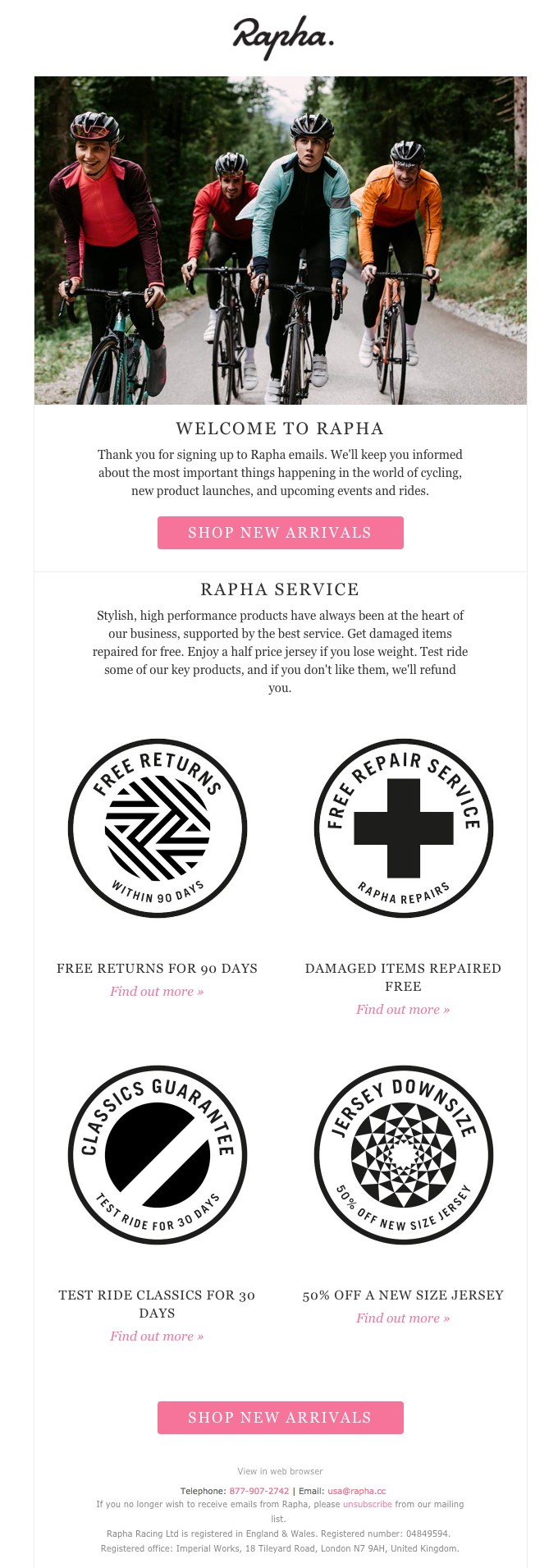 Rapha: Welcome to Rapha
