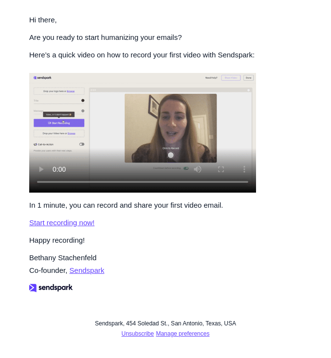 Record your first video email