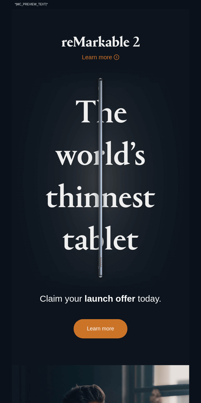 reMarkable 2 — the world's thinnest tablet