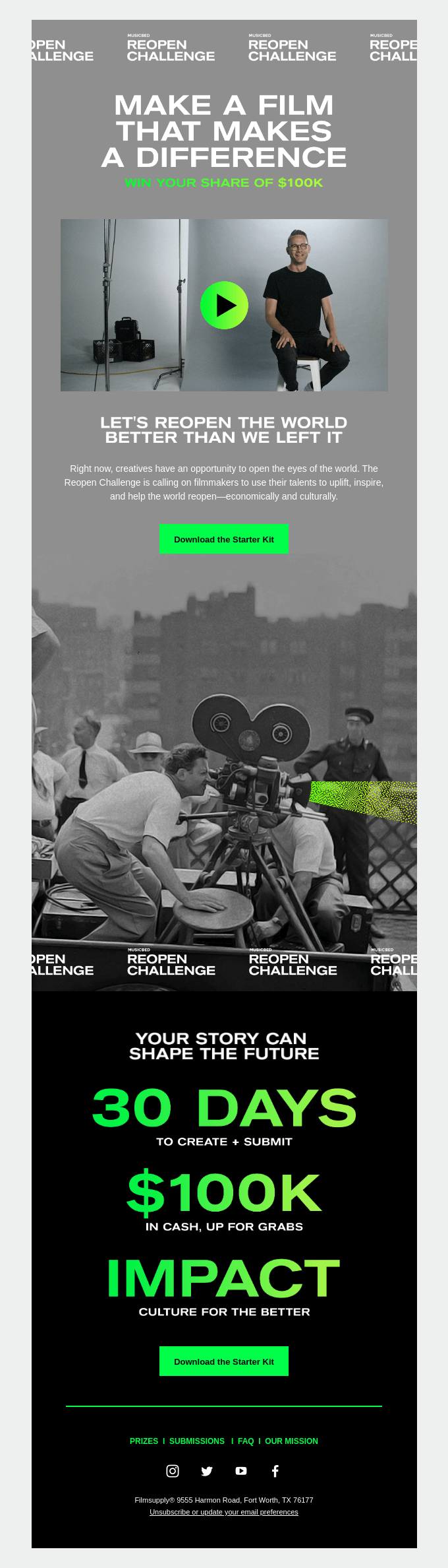 Reopen Challenge: Make a Film. Make a Difference.