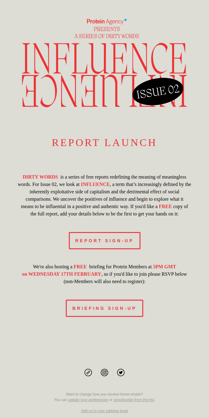 REPORT LAUNCH -Dirty Words - INFLUENCE 🚀