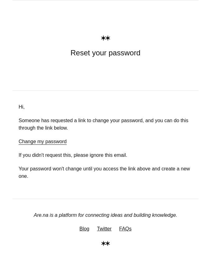 Reset password instructions