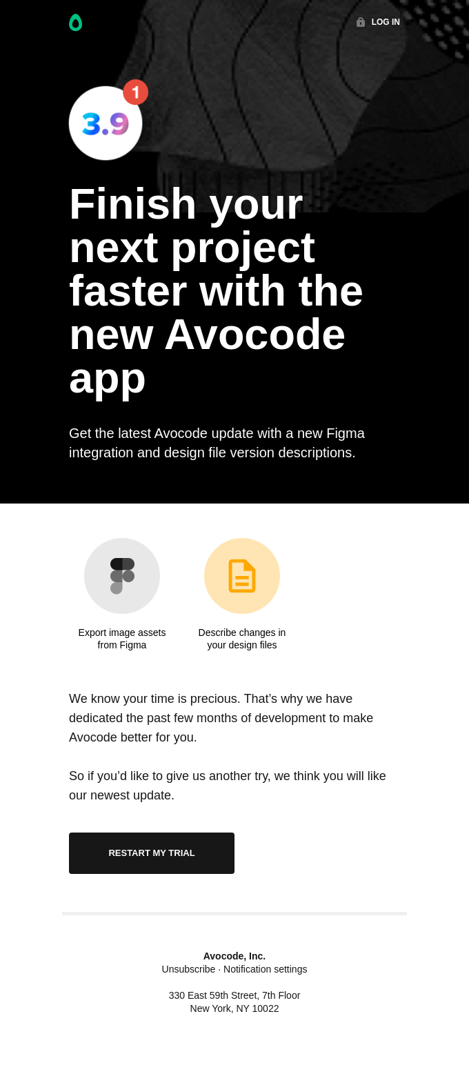 Restart your Avocode trial