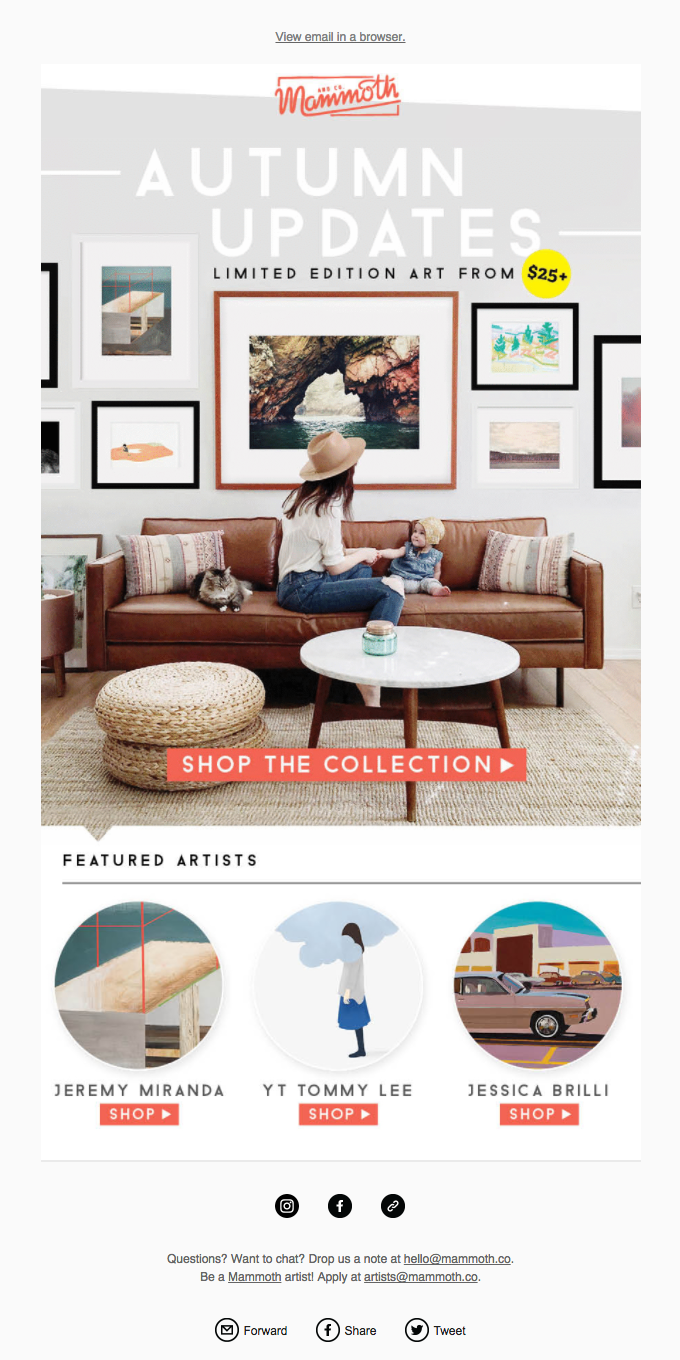 Revive your walls! Limited edition art from $25+ 🙌