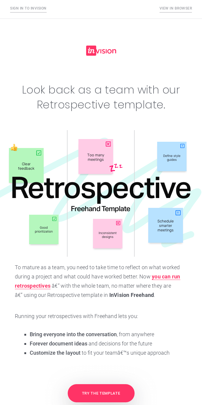 Run a retrospective with Freehand