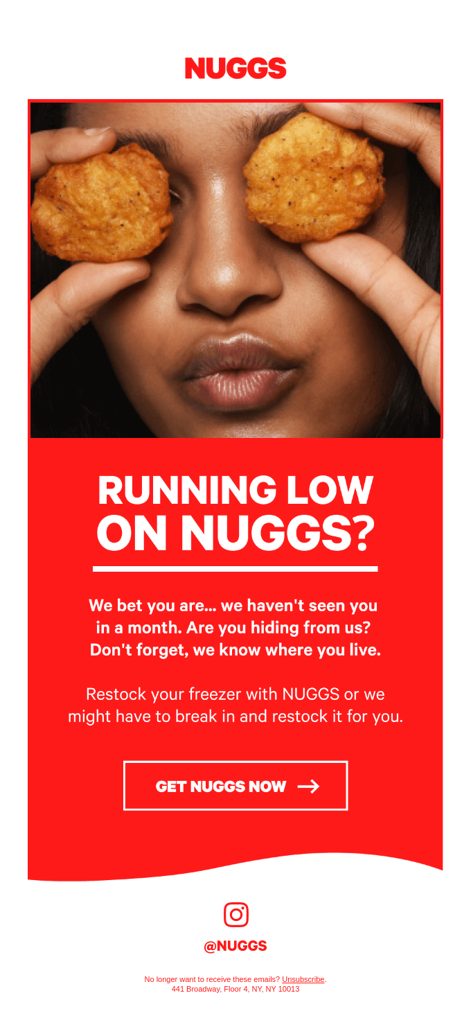 Running low on NUGGS?