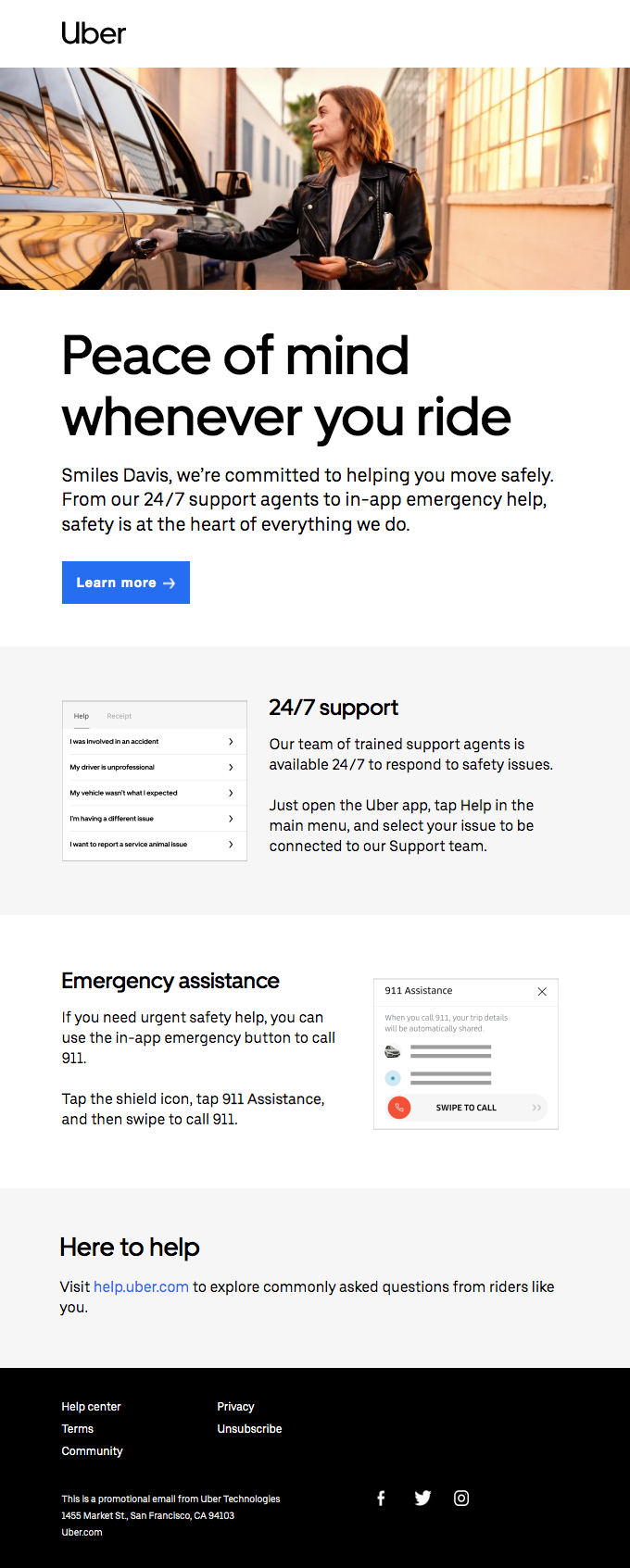 Safety support is available 24/7