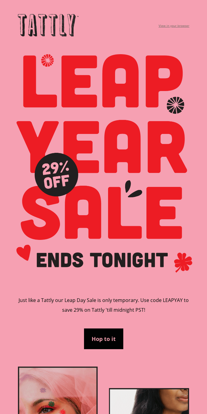 Sale Ends Midnight!
