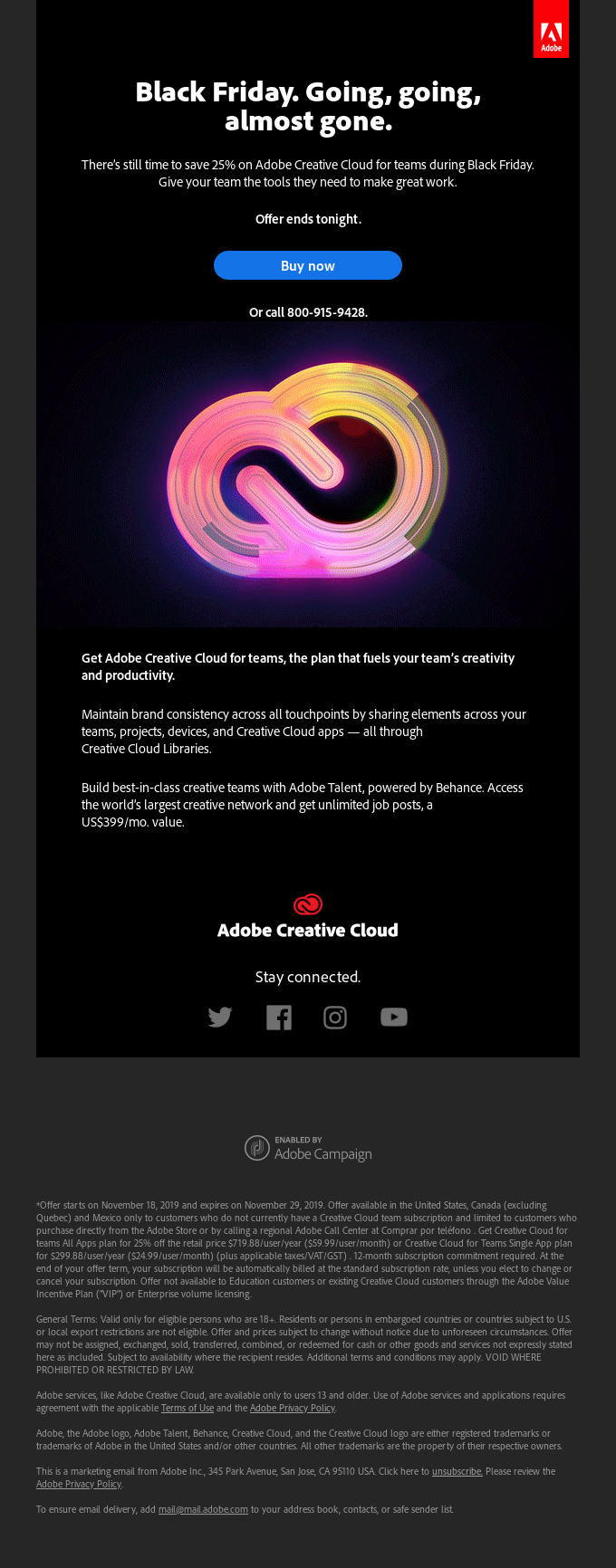 Save 25% on Creative Cloud for teams today