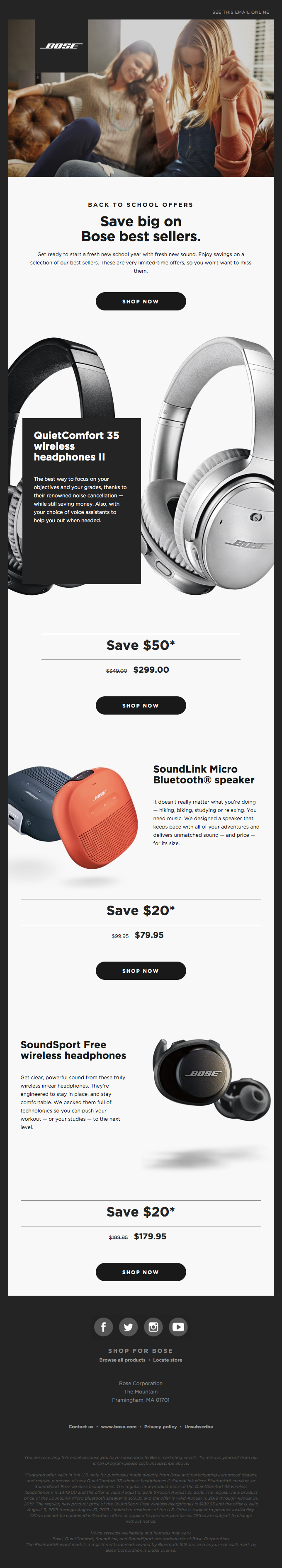 Save big on headphones and speakers for back to school season