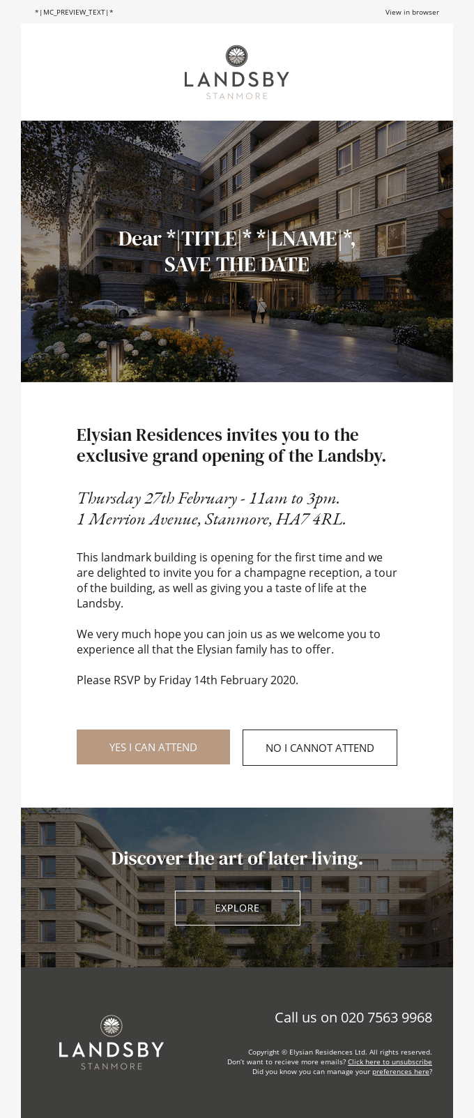Save the date: Exclusive grand opening of the Landsby