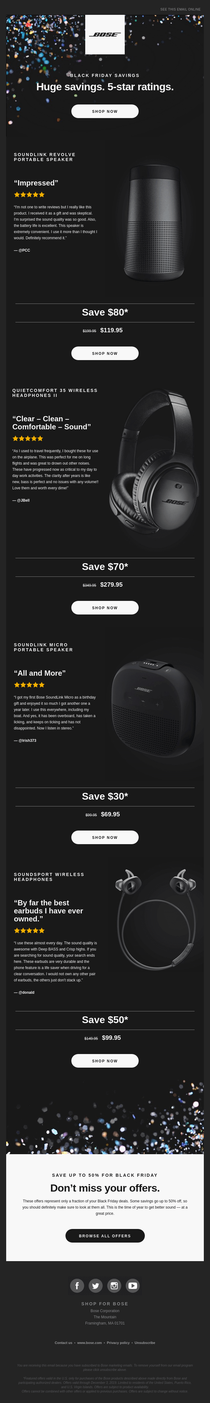 Save up to 50% on speakers and headphones | Black Friday is here