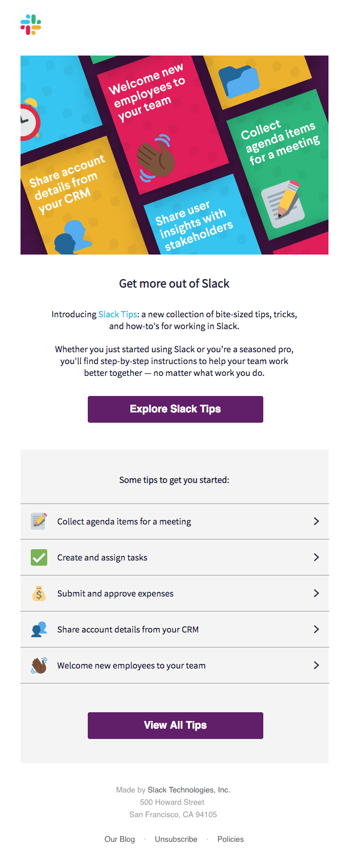 Say hello to Slack Tips