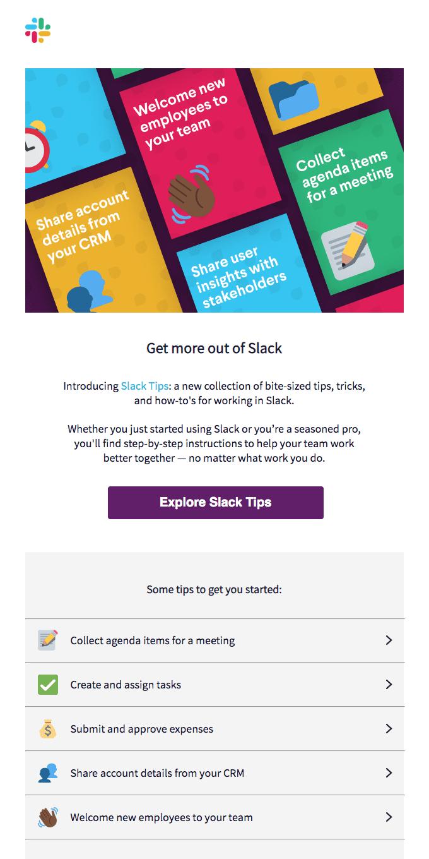 Say hello to Slack Tips