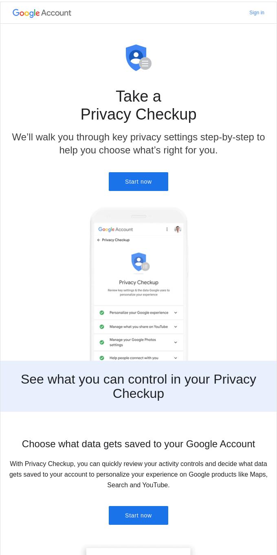 Smiles Davis, complete your Privacy Checkup