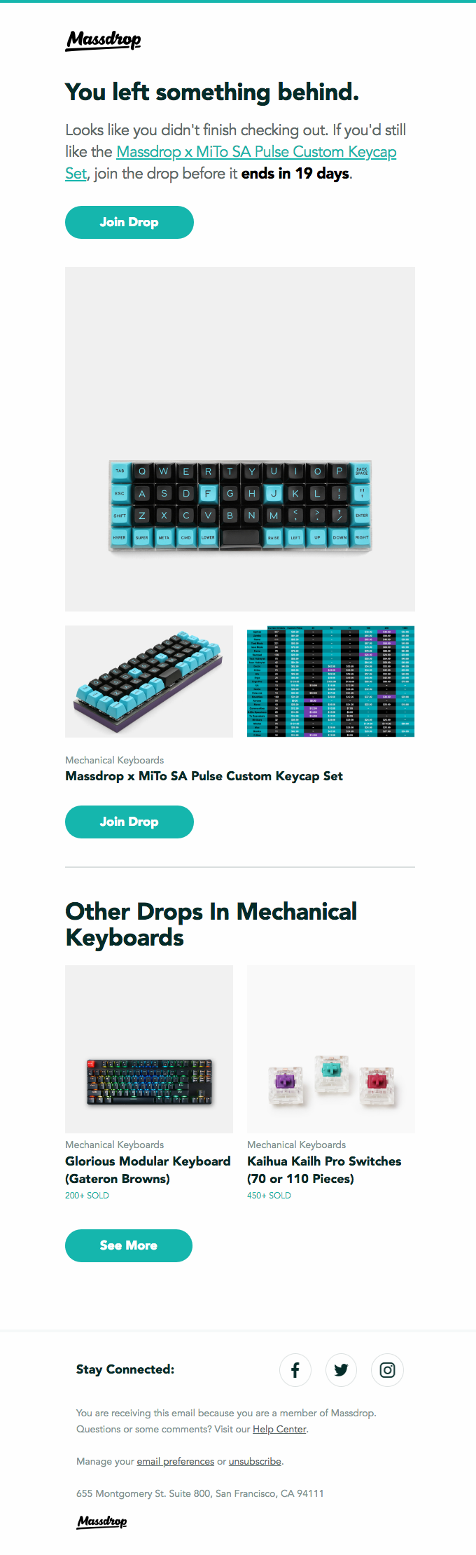 Smiles Davis, still interested in the Massdrop x MiTo SA Pulse Custom Keycap Set?