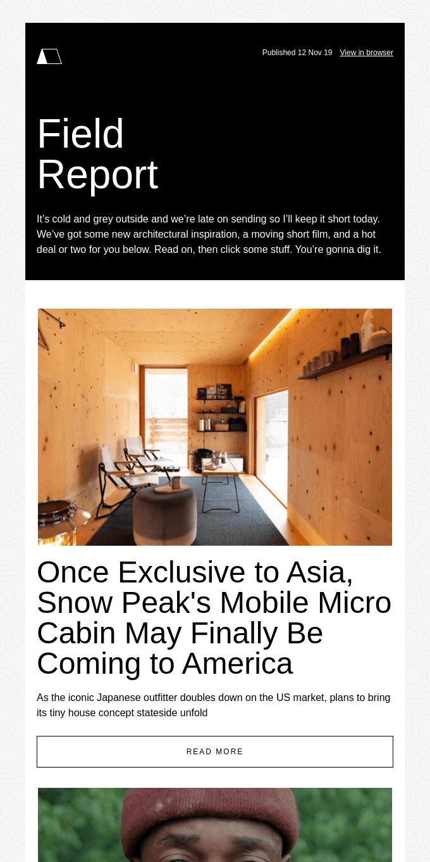 Snow Peak's Mysterious Micro Cabin Comes to America