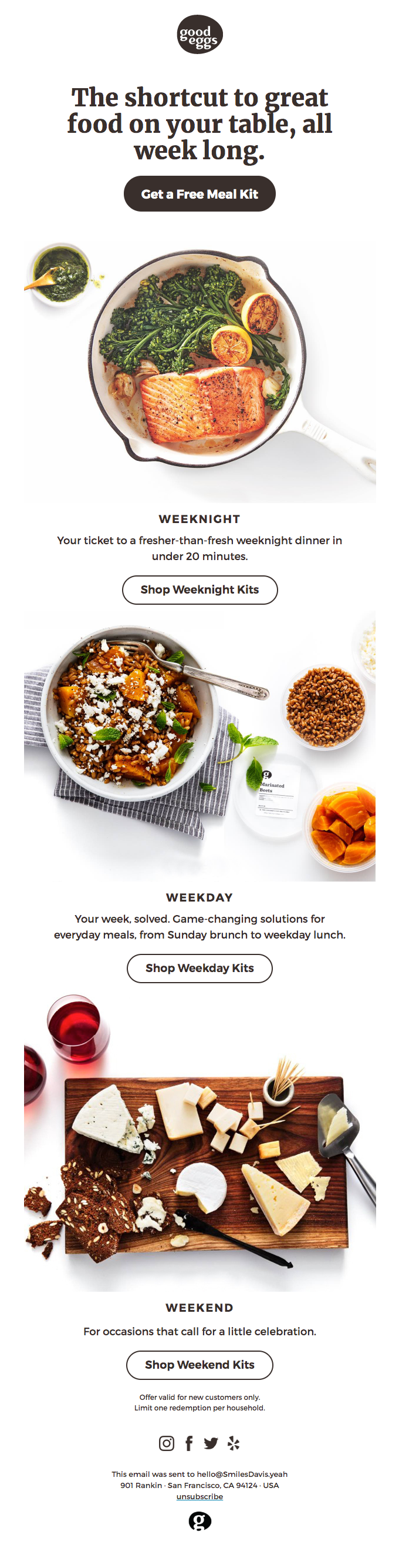 Solve your week with a free meal kit!