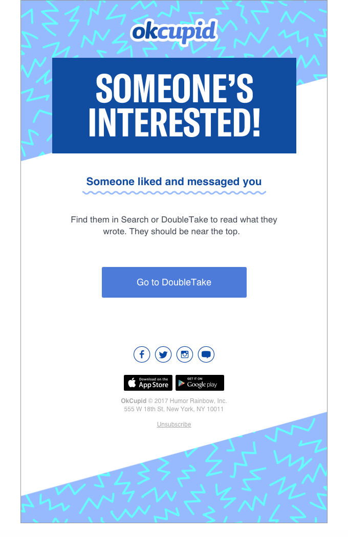 Okcupid Emails on Really Good Emails