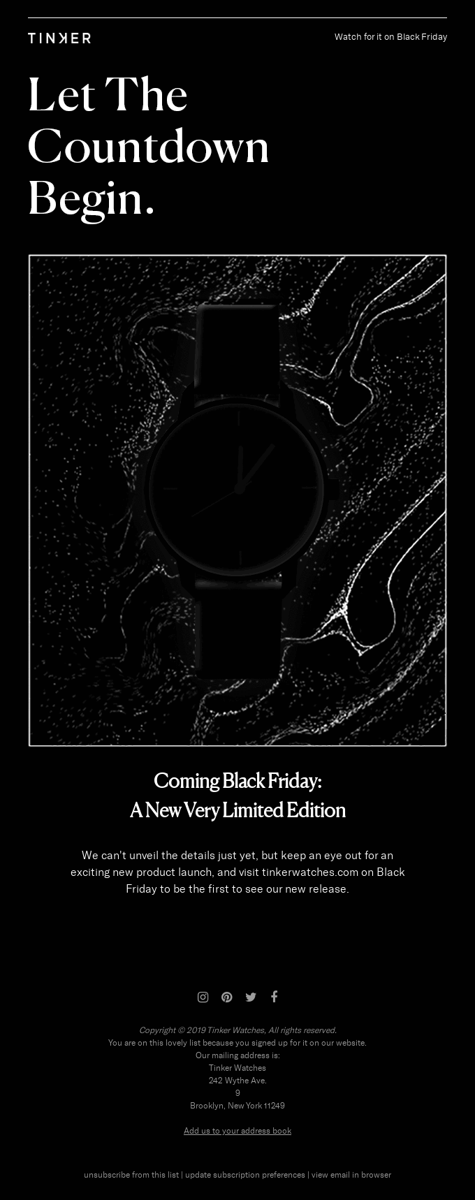 Something New is Coming on Black Friday ⌚