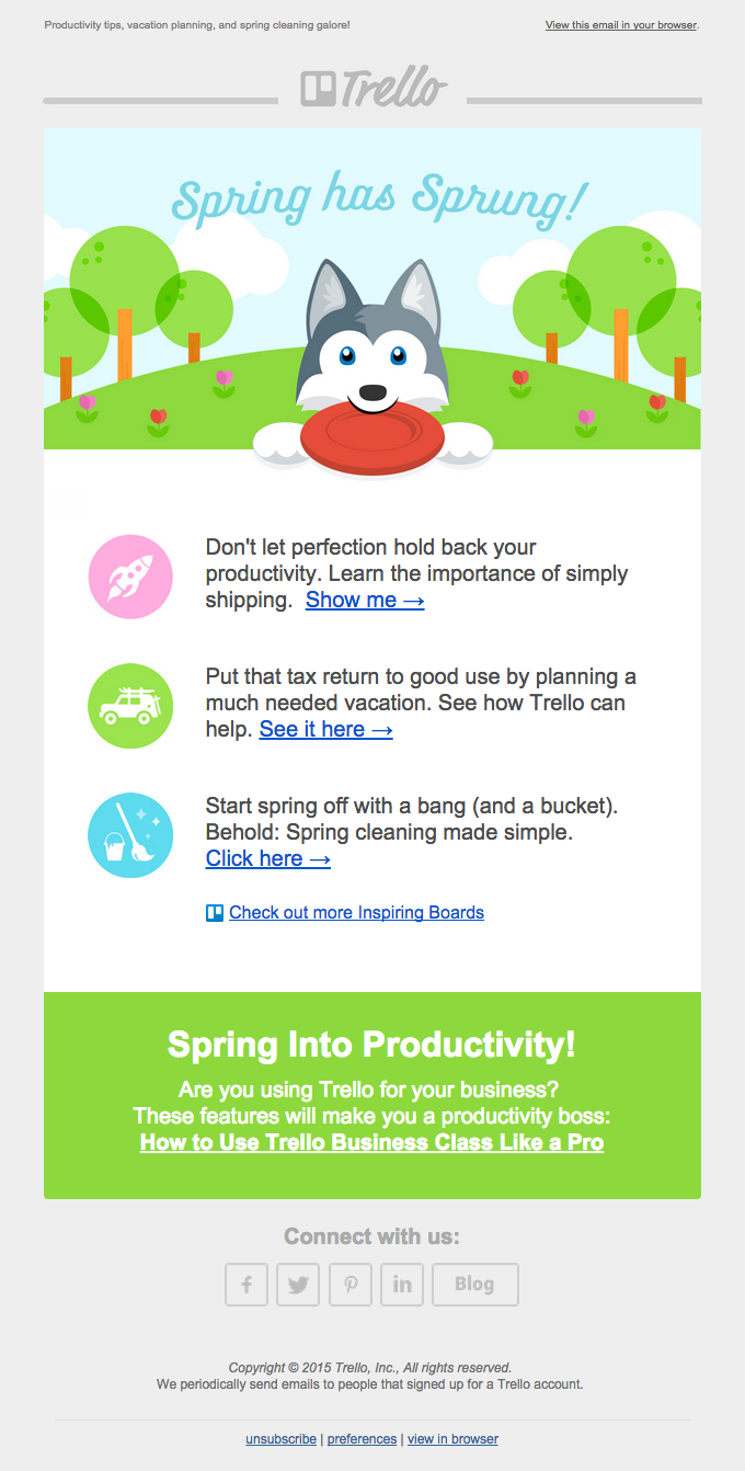Spring Has Sprung With Trello!