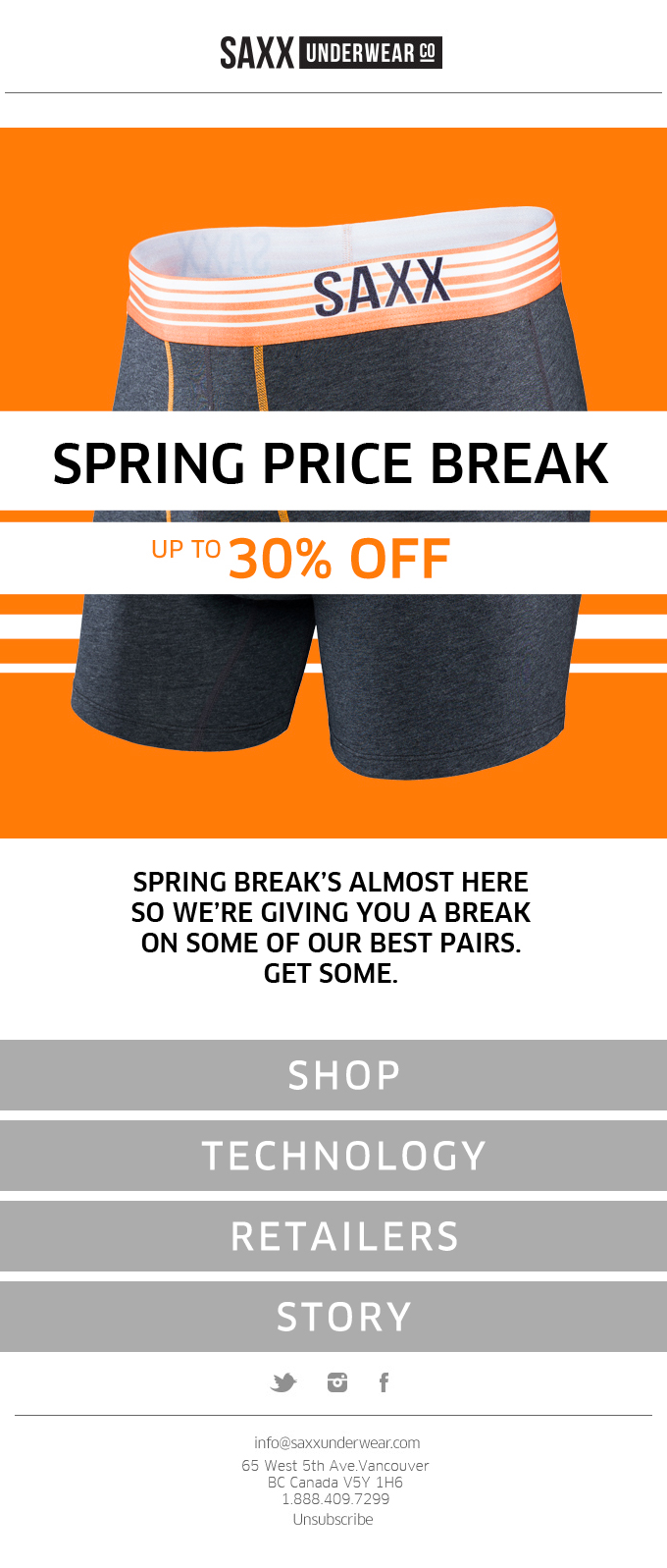 Spring Price Break