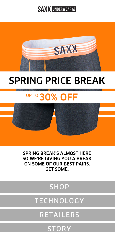 Spring Price Break