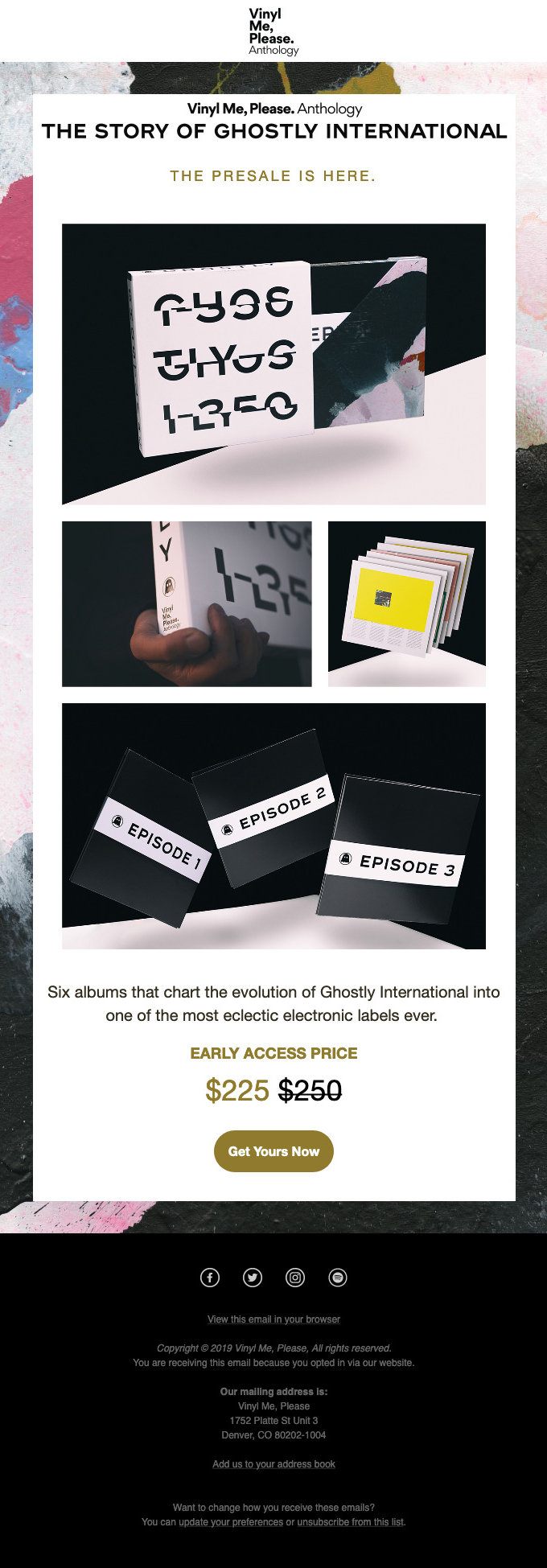 🔥Starting NOW! The Story of Ghostly International presale is here.