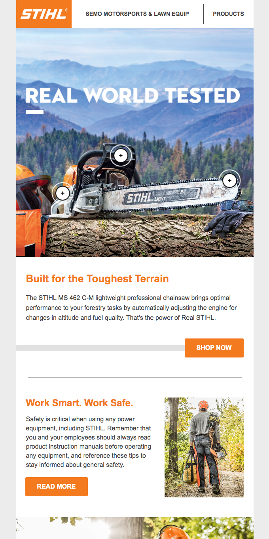 STIHL tools work as hard as you do