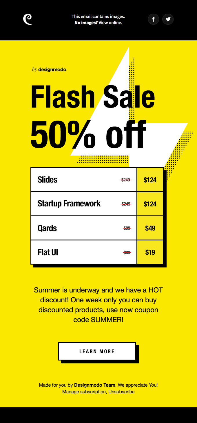 Summer Flash Sale on Designmodo! 50% Off!