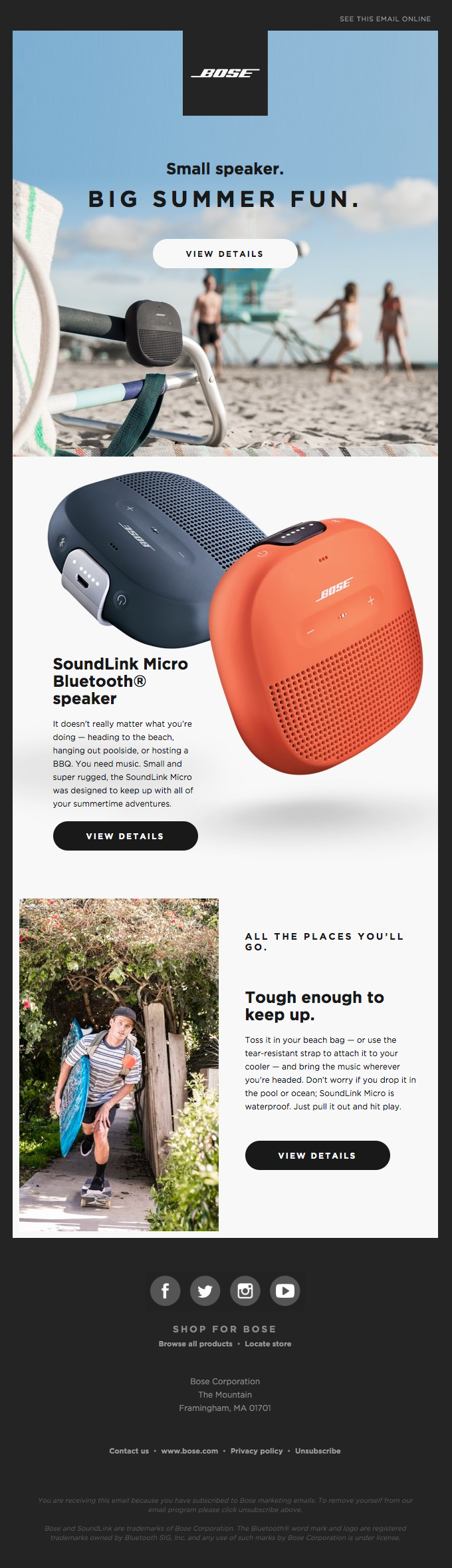 Summertime vibes with SoundLink Micro
