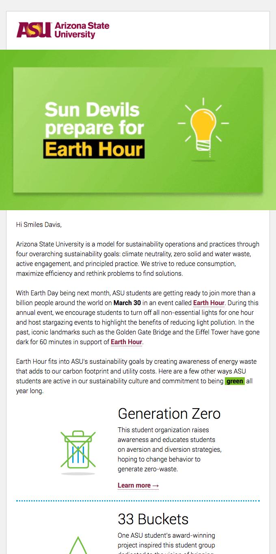 Sun Devils prepare for Earth Hour