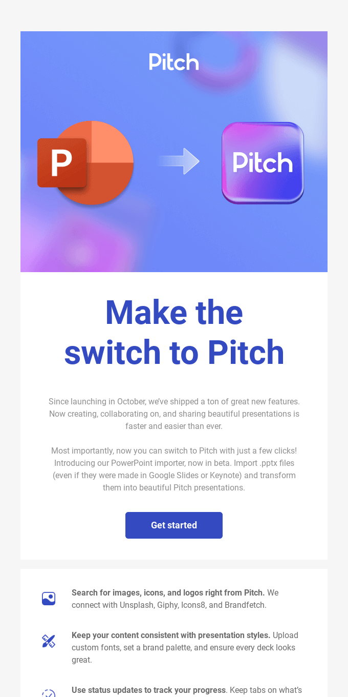 Switching to Pitch is now easier than ever