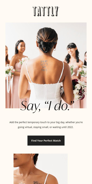 "Tattly To Say, ""I Do!"" To"