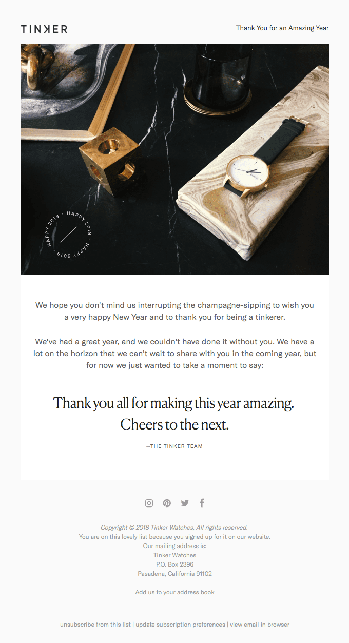 Thank You for an Amazing Year