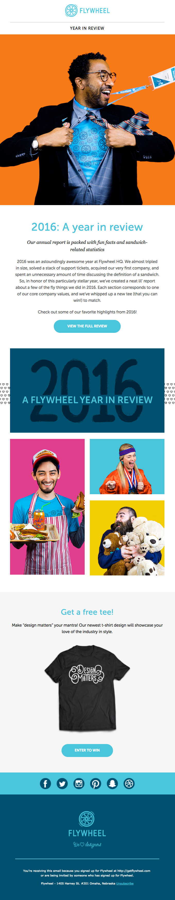 Thanks for a super fly 2016! Our annual report + free tees