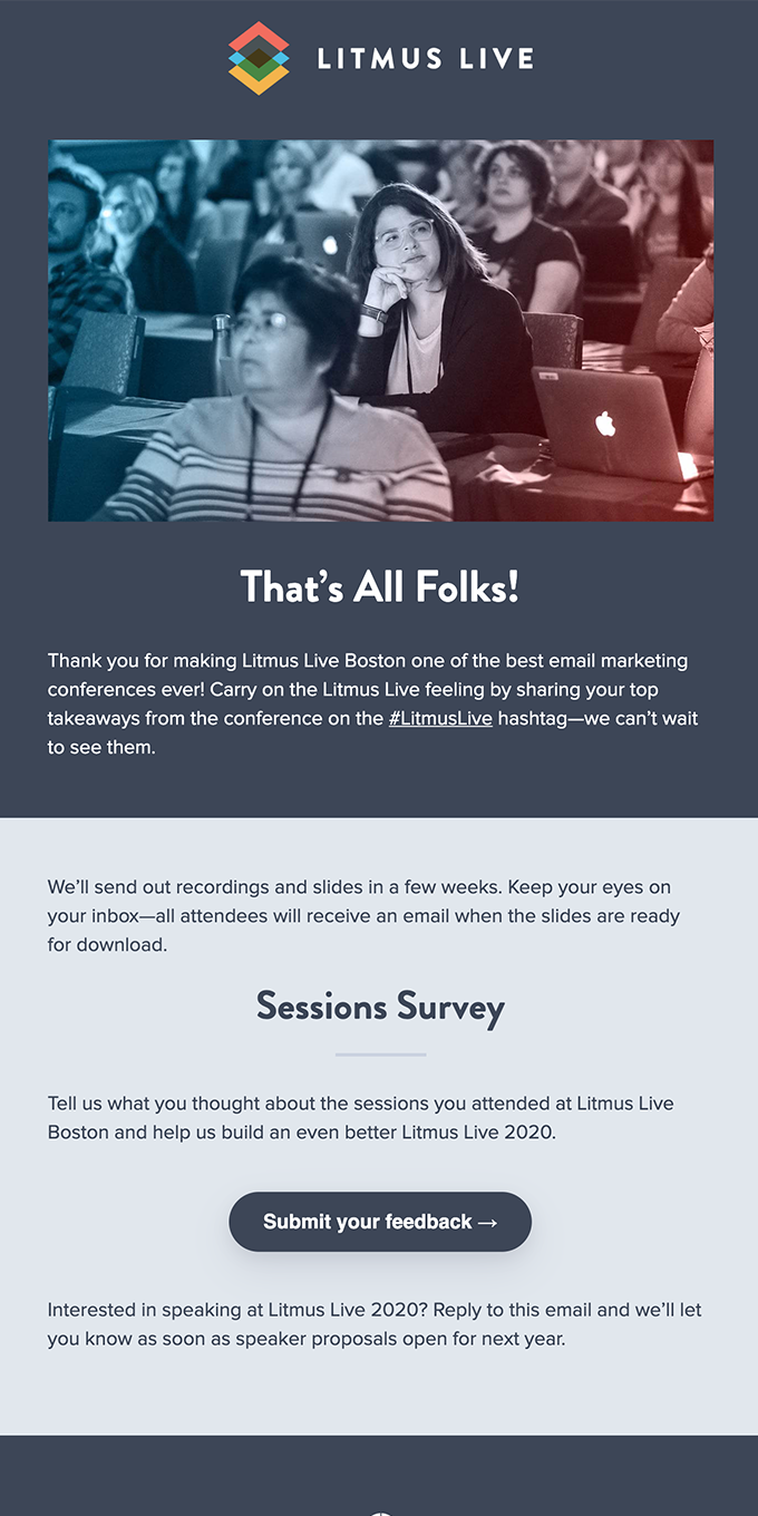 Thanks for making Litmus Live Boston awesome!