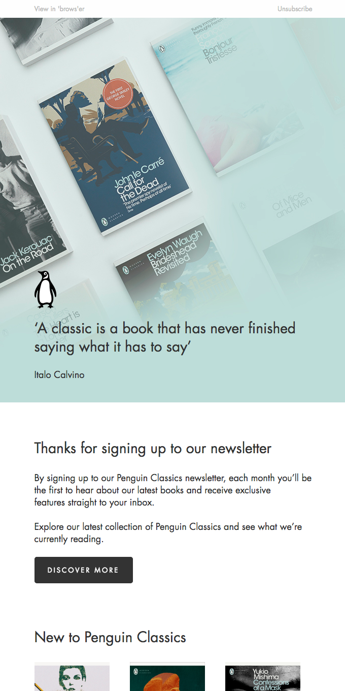 Thanks for signing up to our newsletter