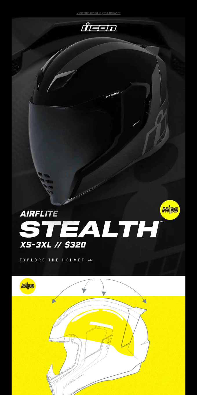 The Airflite Stealth™ Helmet With MIPS Brain Protection System