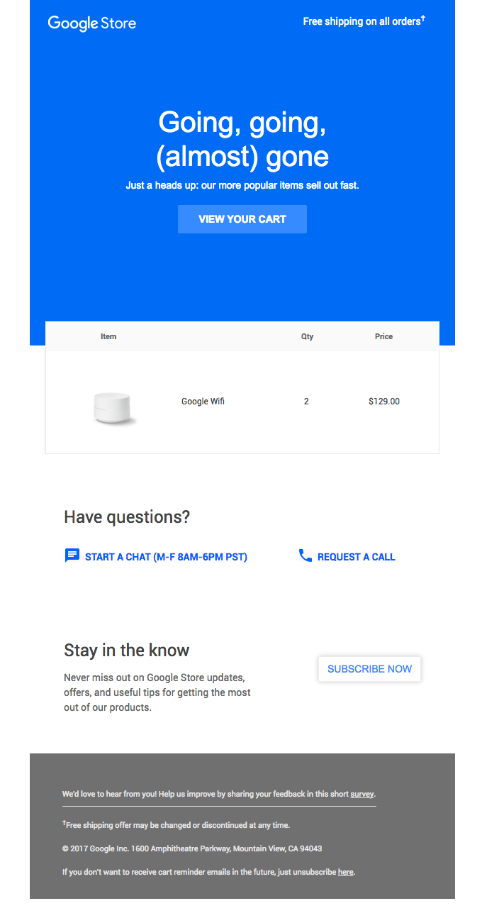 The Google Wifi in your cart is going fast